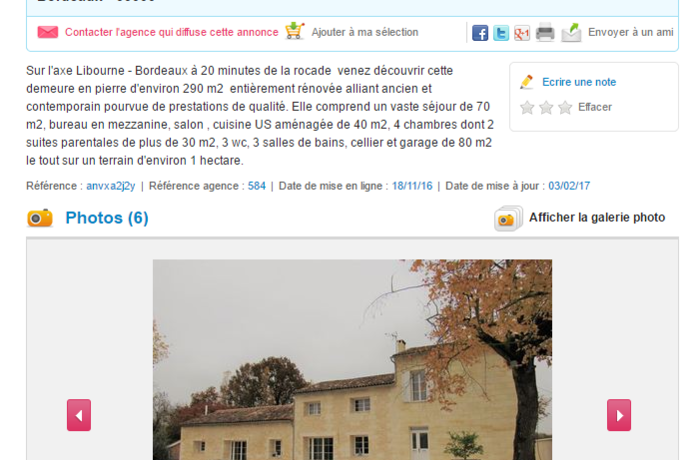 Larger annonce